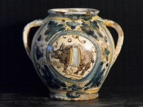 TWO-HANDLED JAR, TUSCANY END OF 15th..C.