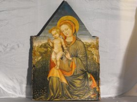 "AFTER LIPPI FILIPPO , OIL ON WOOD,""MADONNA WITH CH"