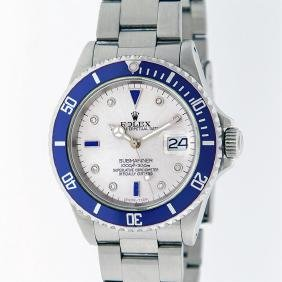 Rolex Stainless Steel Sapphire And Diamond Submariner