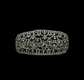 Swarovski Crystal Cocktail Bracelet - Silver Plated