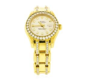 Rolex 18kt Gold 4.00 Ctw Diamond Masterpiece