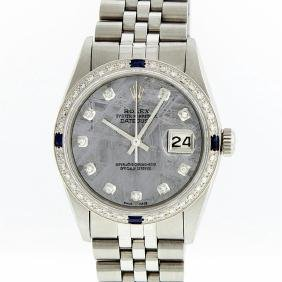 rolex watches for in online auctions rolex stainless steel meteorite diamond sapphire