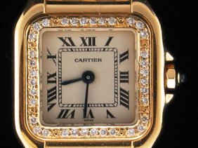 Ladies Cartier Gold & Diamond Watch