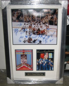 """Miracle On Ice"" Framed Signed Photo Collage"