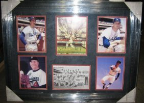 1966 Dodgers Framed Team Signed (14) Collage