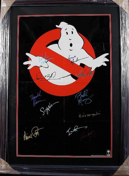225: Ghostbusters Autographed Movie Poster : Lot 225