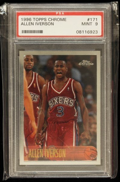 1996 Topps Chrome Allen Iverson Rookie Card C258 : Lot 108