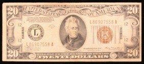 1934-A $20 FRN Federal Emergency HAWAII Julian/Morgenth