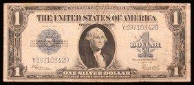 1923 LARGE $1  Blue Seal Silver Cert Speelman/White PM2
