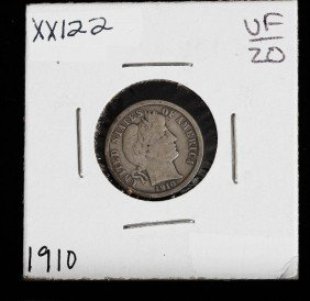 1910 Barber Silver Dime XX122