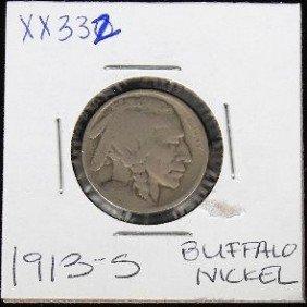 1913 S Buffalo Nickel XX332