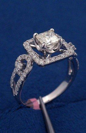 18KT White Gold 1.35ct Diamond Ring FJM1243