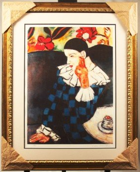 """""""Harlequin Leaning On His Elbow"""" Framed Limited Edition"""