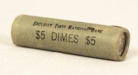 RARE Roosevelt Dimes BU Original Unopened Shotgun Bank
