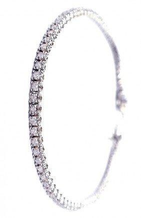 18KT White Gold 2.66ct Diamond Tennis Bracelet A3270