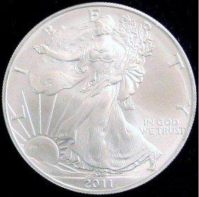 2011 American Silver Eagle Dollar GEM BU Coin MNTCN6