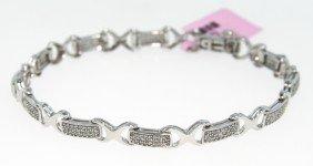 14KT White Gold .9ct Diamond Bracelet FJM497