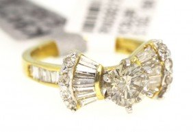18KT Yellow Gold 1.86ct Diamond Unity Ring RM358