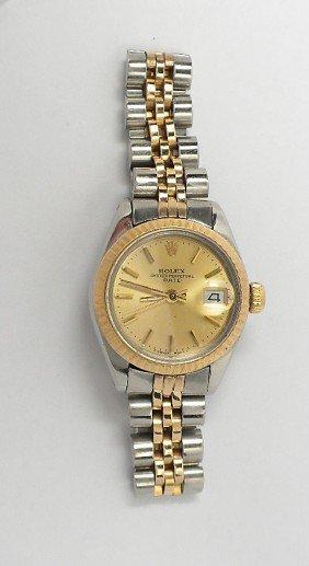 Ladies Rolex Two Tone Date Model Wristwatch A3685