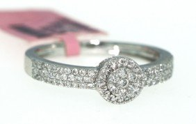 14KT White Gold .37ct Diamond Ring FJM715