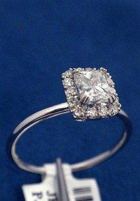 14KT White Gold .74ct Diamond Ring J8