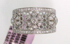 14KT White Gold 0.57ct Round Diamond Ring FJM1370