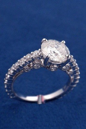 18KT White Gold 2.5ct Diamond Unity Ring FJM1075