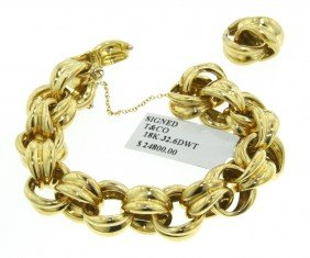 18KT Yellow Gold Tiffany And Co. Vintage Link Bracelet