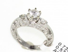 18KT White Gold 1.30ct Diamond Ring RM449