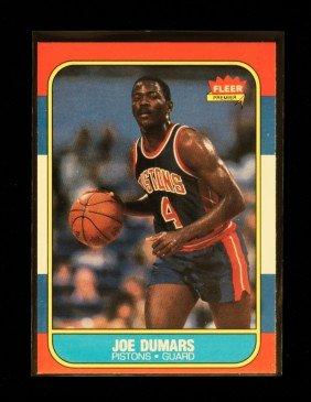 1986 Fleer Joe Dumars Rookie Card C232