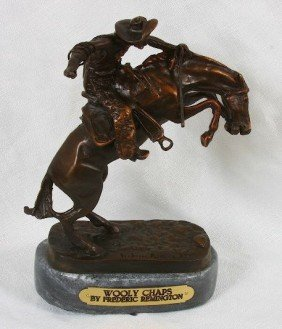 Frederic Remington Bronze Statue Reproduction - Wooly C