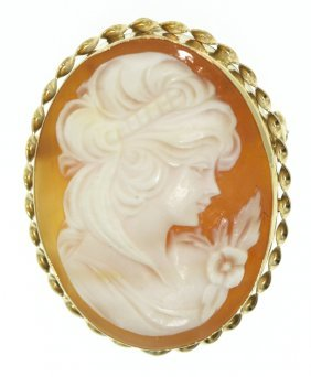 Vintage Authentic Carved Cameo Pendant/Brooch ED1253