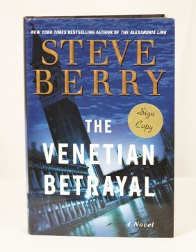 "Autographed Copy Of ""The Venetian Betrayal"" BK52"
