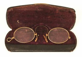 Antique Brass Pince-nez Eyeglasses Circa 1870 ED1181