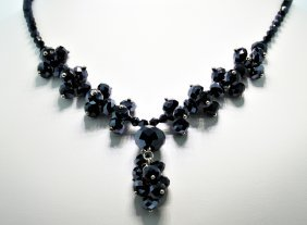 Glam-Black Crystal Necklace CN61