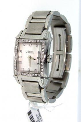 Mens Girard Perregaux Vintage SS Wristwatch With Diamon