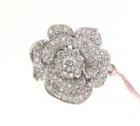 18KT White Gold 0.90tcw Diamond Ring FJM1563