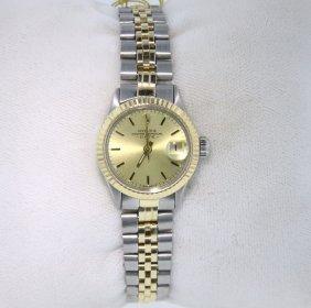 Ladies Rolex Two-Tone Date Model Wristwatch RM485