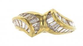 18KT Yellow Gold 1.08ct Diamond Ring STN12