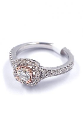 14KT Two-Tone Rose & White Gold 1.20ct Diamond Wedding