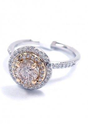 14KT White & Yellow Gold 0.81tcw Diamond Ring J72