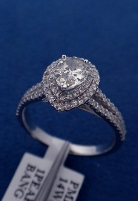 14KT White Gold Ladies 1.26ct Diamond Ring J62