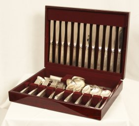 "Towle ""Old Lace"" 94pc Sterling Service For 12 ED1128"