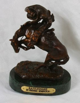 Frederic Remington Bronze Statue Reproduction - Rattles