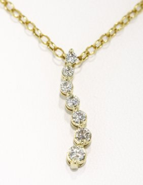 14KT Yellow Gold Diamond Necklace 2.3gms GD286
