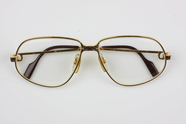 vintage cartier panthere lunette gold tone eyeglasses g
