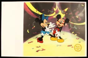 "Walt Disney ""Mickey's Surprise Party"" Serigraph Cel Dis"