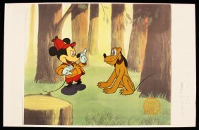 "Walt Disney ""The Pointer"" Ltd Ed Serigraph Cel DisneySe"