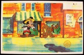 """Walt Disney """"Mr. Mouse Takes A Trip"""" Serigraph Cel Disn"""