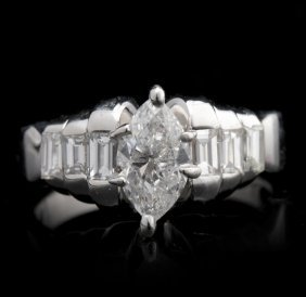 14KT White Gold 1.40ctw Diamond Ring GB1061